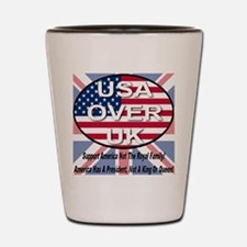 USA OVER UK Shot Glass
