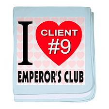 I Love Emperor's Club Client baby blanket