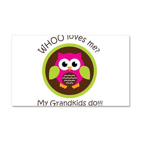 Grandkids Owl Car Magnet 20 x 12