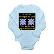 Playing In The Snow Long Sleeve Infant Bodysuit