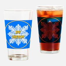 Ski Oregon Snowflake Drinking Glass