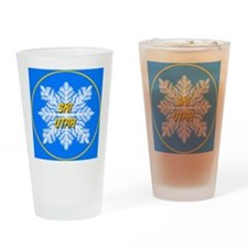 Ski Utah Snowflake Drinking Glass