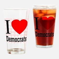 I Love Democrats Drinking Glass