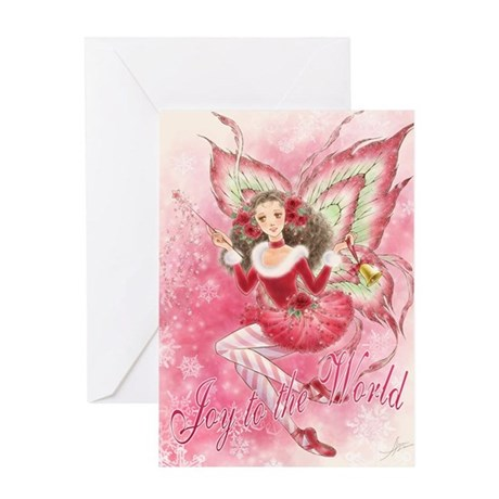 Candy Cane Fairy Greeting Card