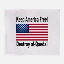 Destroy al-Qaeda Throw Blanket