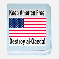 Destroy al-Qaeda baby blanket