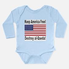 Destroy al-Qaeda Long Sleeve Infant Bodysuit