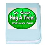 Go Green Hug A Tree! baby blanket
