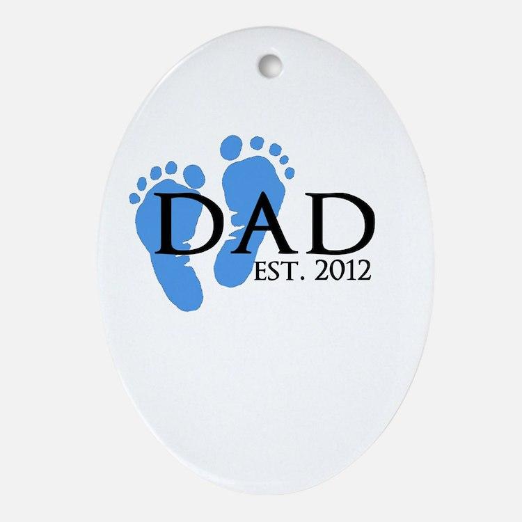 Dad Est 2012 Ornament (Oval)