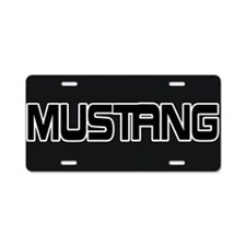 Unique Mustang Aluminum License Plate