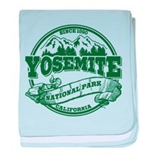 Yosemite Old Circle Green baby blanket