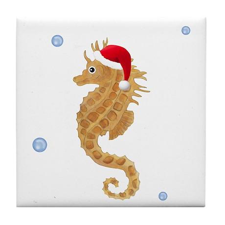 Santa - Seahorse Tile Coaster
