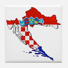Croatia Map Tile Coaster