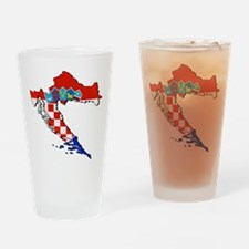 Croatia Map Drinking Glass
