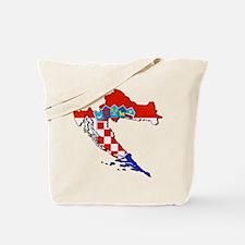 Croatia Map Tote Bag
