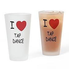 I heart tap dance Drinking Glass