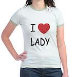I heart lady Jr. Ringer T-Shirt