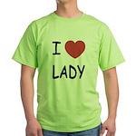 I heart lady Green T-Shirt