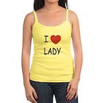 I heart lady Jr. Spaghetti Tank