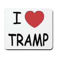 I heart tramp Mousepad
