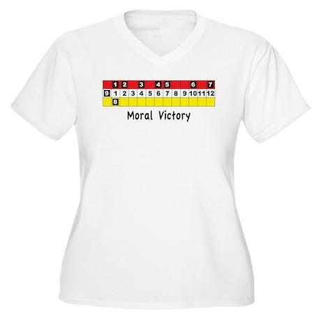 Moral Victory Women's Plus Size V-Neck T-Shirt