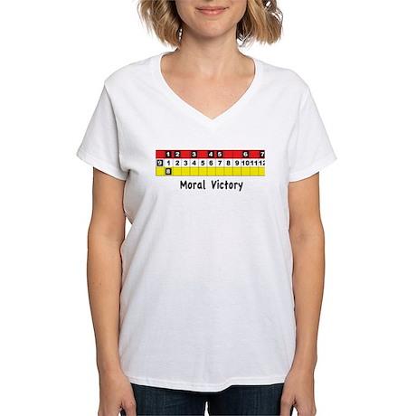 Moral Victory Women's V-Neck T-Shirt
