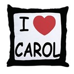 I heart carol Throw Pillow