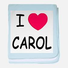 I heart carol baby blanket