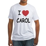 I heart carol Fitted T-Shirt
