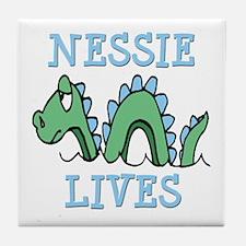 Nessie Lives Tile Coaster