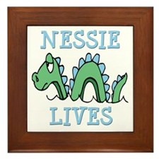 Nessie Lives Framed Tile