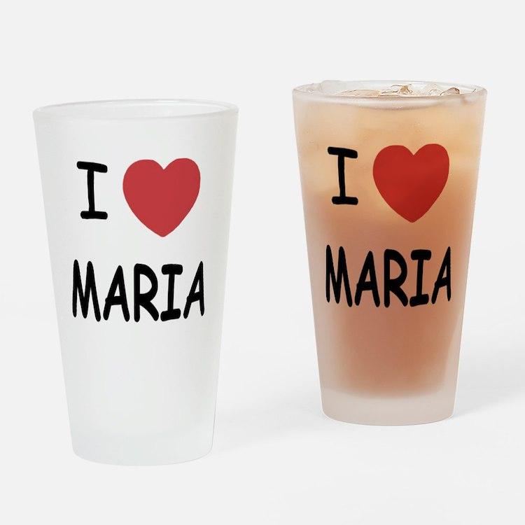 I heart maria Drinking Glass