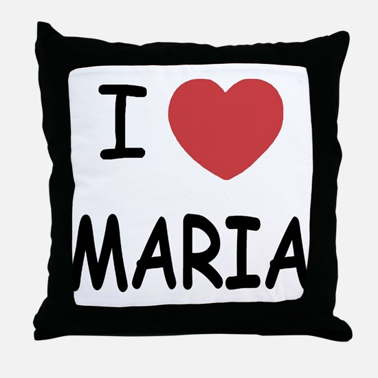 I heart maria Throw Pillow