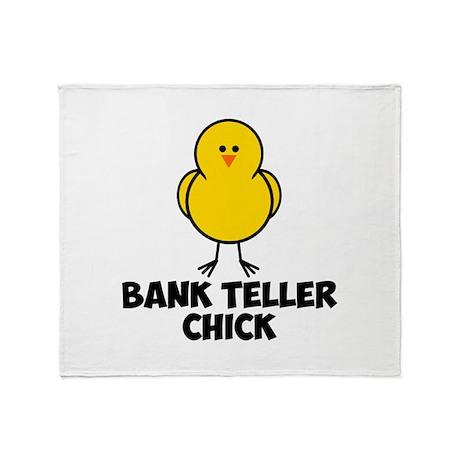 Bank Teller Chick Throw Blanket
