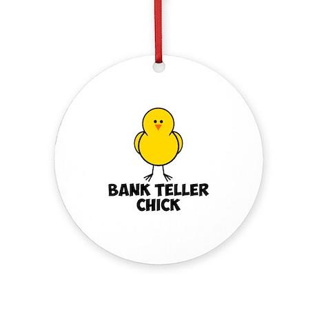Bank Teller Chick Ornament (Round)
