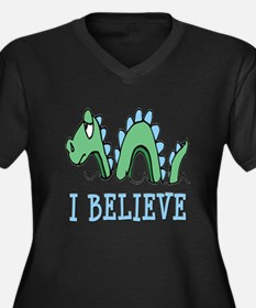I Believe in Sea Monsters Women's Plus Size V-Neck