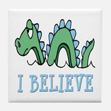 I Believe in Sea Monsters Tile Coaster