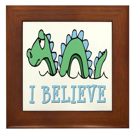 I Believe in Sea Monsters Framed Tile