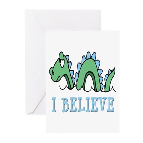 I Believe in Sea Monsters Greeting Cards (Pk of 10