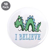 """I Believe in Sea Monsters 3.5"""" Button (10 pack)"""