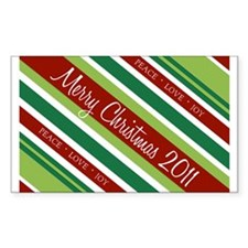 Christmas Modern Stripes Decal