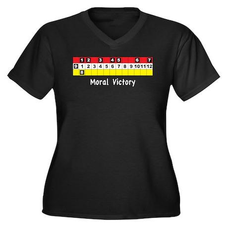 Moral Victory Women's Plus Size V-Neck Dark T-Shir