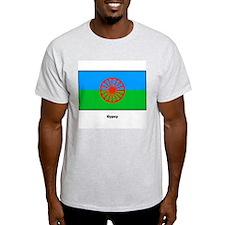 Gypsy Flag (Front) Ash Grey T-Shirt