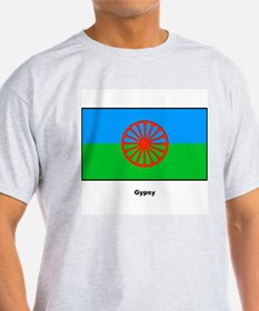 Gypsy Flag (Front) Ash Grey T-Shirt
