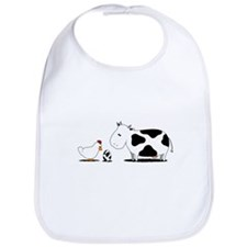 Chicken and cow egg Bib
