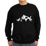 Chicken and cow egg Sweatshirt (dark)