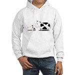 Chicken and cow egg Hooded Sweatshirt