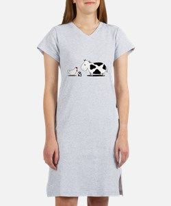 Chicken and cow egg Women's Nightshirt