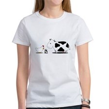 Chicken and cow egg Tee