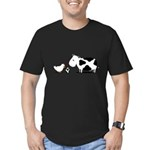 Chicken and cow egg Men's Fitted T-Shirt (dark)